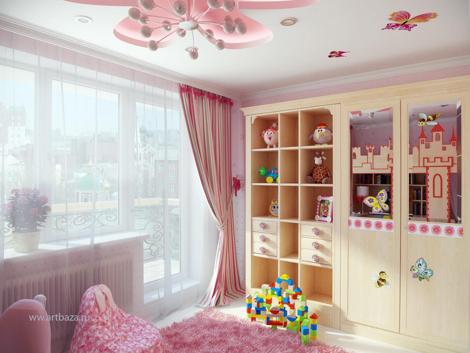 Интерьер детской комнаты стройка и