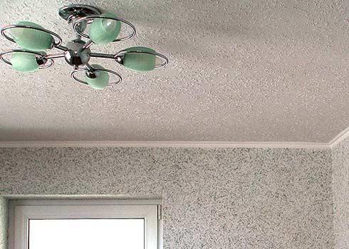 Потолок дизайн обоями фото