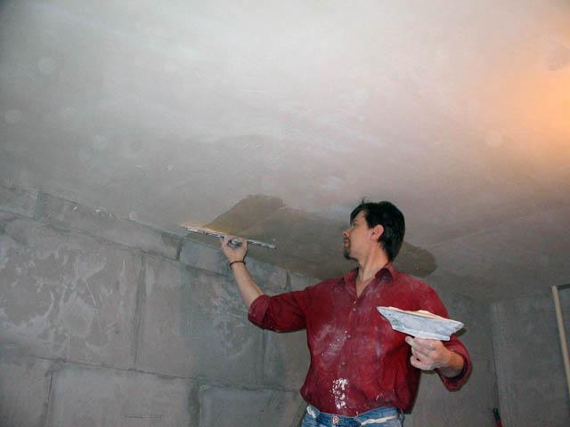 Как сделать шпатлевка на потолок 966