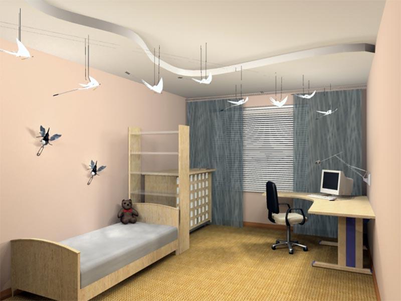 Дизайн детской комнаты стройка и