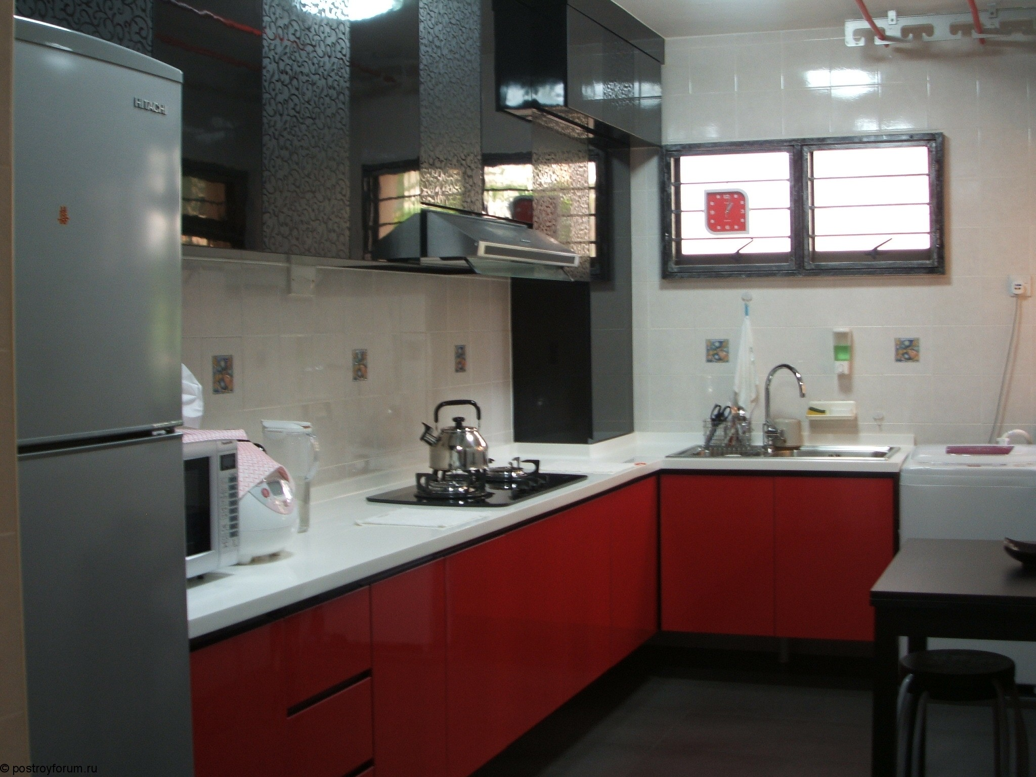 Red And Black Kitchen Red And Grey Kitchen Cabinets Quicuacom
