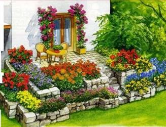 Ландшафтный дизайн в саду фото