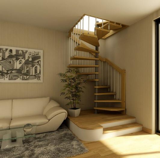 Corde de bois calcul - Fixation pour rampe d escalier ...