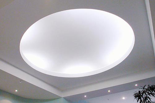Дизайн подвесного гипсокартонного потолка