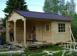 Возведение дачного домика