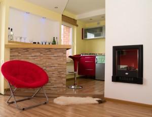 Зонирование и гостиной кухни