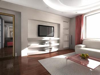 Ремонт и отделка гостиной стройка и